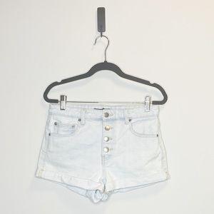 Light Wash Cuffed Shorts